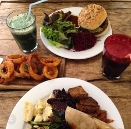 Some delicious vegan food at the Green Rocket Cafe, Bath.
