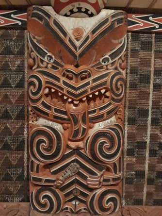 Maori Carvings in Auckland Museum